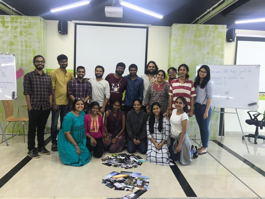 A group photo of participants in Mumbai workshop with facilitators