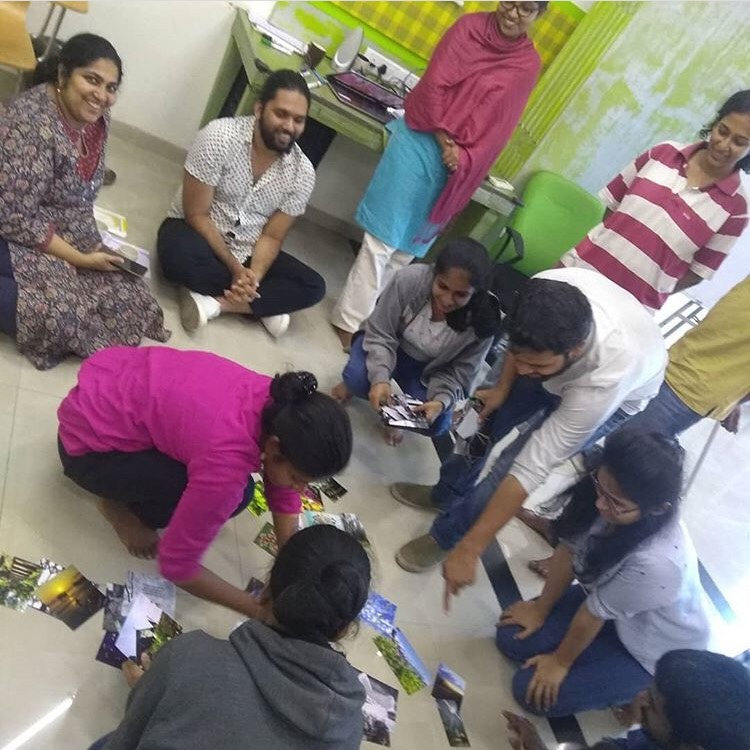 Participants doing an activity in the workshop